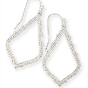 Kendra Scott Large Silver Sophia Earrings